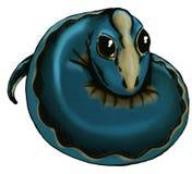 蓝色婴儿蜥蜴 库存图片