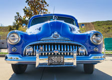 蓝色1947年别克超级经典汽车 免版税库存图片