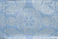蓝色织品背景或纹理 库存照片