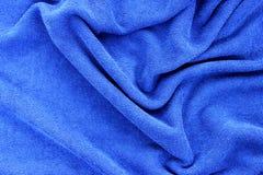 蓝色织品 免版税图库摄影