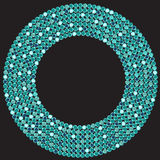 蓝色织地不很细背景无缝的衣服饰物之小金属片样式 库存图片