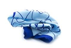 蓝色围巾 库存图片