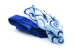 蓝色围巾 库存照片