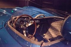 蓝色1956年薛佛列轻武装快舰超级体育SS 图库摄影