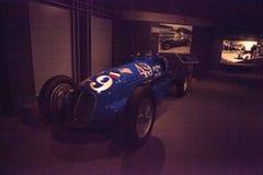 蓝色1938年Maserati 8CTF 库存照片