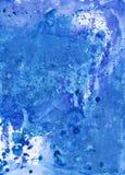 蓝色水彩摘要手工制造背景,五颜六色的图象为 免版税图库摄影