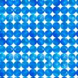 蓝色水彩盘旋传染媒介无缝的样式 库存照片