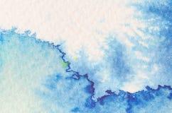 蓝色水彩背景纹理 图库摄影