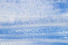 蓝色水彩被绘的纹理背景 库存照片