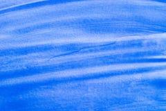 蓝色水彩被绘的纹理背景 免版税图库摄影