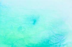 蓝色水彩被绘的背景纹理 免版税库存照片