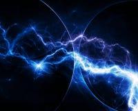 蓝色幻想分数维闪电 图库摄影