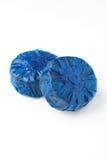 蓝色洗手间储水池块 图库摄影