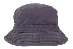 蓝色巴拿马草帽在白色背景。 免版税库存图片
