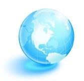 蓝色水晶地球 库存图片