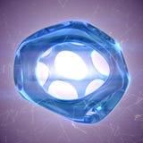 蓝色水晶摘要 首饰概念 图库摄影