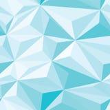 蓝色水晶无缝的样式 库存图片
