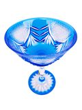 蓝色水晶玻璃 免版税库存照片