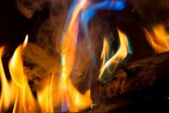 蓝色绿松石火焰 免版税库存照片
