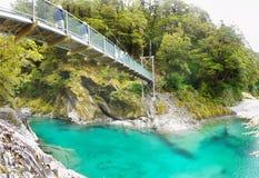 蓝色水池, Mt 令人想往的国家公园,新西兰 免版税库存图片