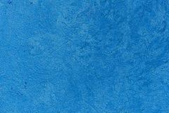蓝色水泥边路墙壁 免版税库存照片