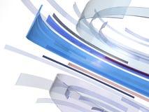 蓝色玻璃旋转背景 免版税库存图片