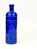 蓝色玻璃瓶 免版税库存图片