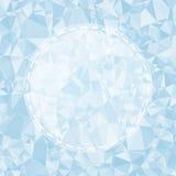蓝色轻的多角形马赛克背景,传染媒介 库存图片