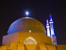 蓝色轻的星期五清真寺 库存照片