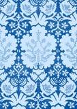 蓝色轻的花卉无缝的样式葡萄酒背景 免版税库存照片