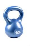 蓝色10磅kettlebell 库存照片