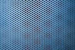 蓝色建筑金属格栅 免版税库存图片