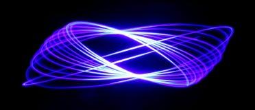 蓝色经线长圆形样式 库存照片