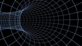 蓝色滤网隧道圈 向量例证