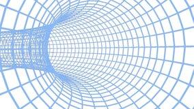 蓝色滤网隧道圈 库存例证