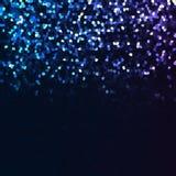 蓝色紫罗兰色白色马赛克背景 库存照片