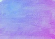 蓝色紫罗兰色水彩背景 免版税库存图片