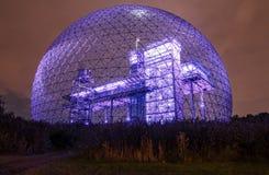 蓝色紫色金属结构的颜色 免版税库存照片