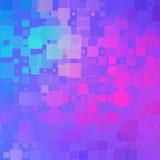 蓝色紫色洋红色桃红色绿松石发光的被环绕的瓦片backgro 库存例证