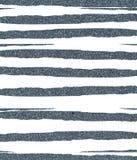 蓝色褴褛,参差不齐的闪光条纹 库存图片