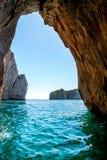 蓝色洞穴,卡普里岛 免版税库存图片