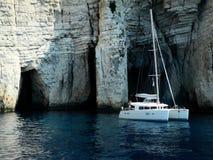 蓝色洞,希腊 免版税库存照片
