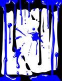 蓝色滴水油漆 库存照片