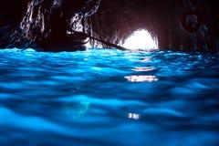 蓝色洞穴(Capri) 免版税图库摄影