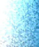 蓝色3d立方体马赛克样式背景设计 免版税库存照片