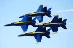 蓝色2个的天使 免版税库存照片