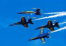 蓝色airshow的天使 免版税库存图片