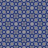 蓝色Ajrak样式 免版税库存照片