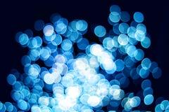 蓝色bokeh作用 免版税图库摄影