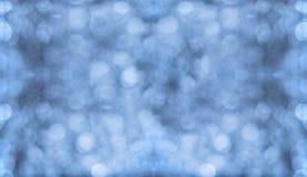蓝色Bokeh墙壁/背景 免版税库存照片
